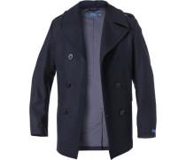 Herren Mantel, Wolle, navy blau