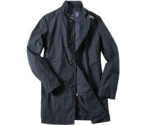 Herren Mantel Baumwoll-Mix navy schwarz,blau