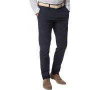 Herren Hose Chino Modern Fit Baumwolle navy blau
