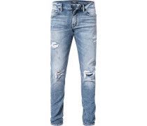 Herren Jeans, Regular Fit, Baumwolle, denim blau