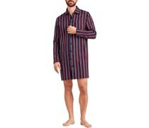Pyjamashirt Baumwolle wein