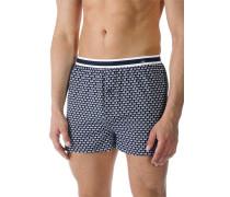 Herren Unterwäsche Shorts, Baumwolle, navy gemustert blau