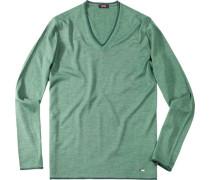 Herren Pullover Woll-Mix moosgrün