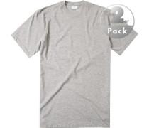 Herren T-Shirts Regular Fit Baumwolle hell meliert