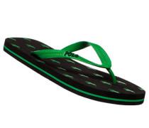 Herren Schuhe Zehensandalen, Gummi, grün-schwarz
