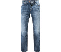 Herren Jeans, Slim Fit, Baumwolle, denim blau