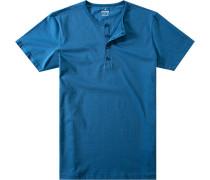 Herren T-Shirt Baumwolle-Jersey azur