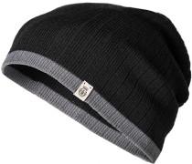 Herren Mütze Baumwolle schwarz