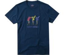 Herren T-Shirt Baumwolle dunkelblau
