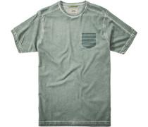 Herren T-Shirt Baumwolle grün meliert