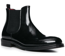 Schuhe Chelsea Boots Lackleder nero