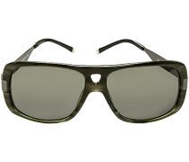 Herren Brillen Sonnenbrille, Kunststoff-Metall, grün gemustert