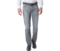 Herren Jeans Regular Fit Baumwoll-Stretch grau
