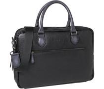 Herren Businesstasche, Leder, schwarz