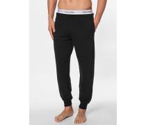Herren Pyjamahose, Baumwolle, schwarz