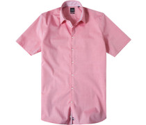 Herren Hemd Slim Fit Chambray rosa