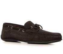 Herren Schuhe Loafer Veloursleder dunkelbraun
