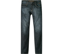 Herren Jeans, Regular Fit, Baumwoll-Stretch, indigo blau