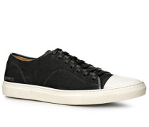 Herren Schuhe Sneaker Veloursleder schwarz schwarz,blau