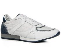 Herren Schuhe Sneaker Leder-Nylon-Mix bianco weiß,weiß
