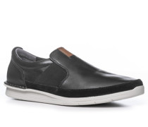 Herren Schuhe Slipper Leder schwarz schwarz,beige,grau,schwarz