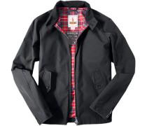 Herren Motorrad-Jacke Regular Fit Baumwoll-Mix schwarz