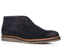 Herren Schuhe Stiefeletten, Veloursleder, navy blau