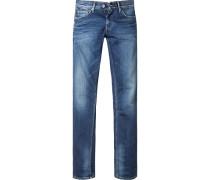 Herren Jeans Regular Fit Baumwoll-Stretch denim