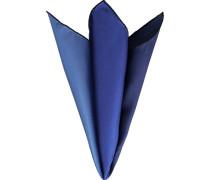 Herren Accessoires Einstecktuch, Seide, blau