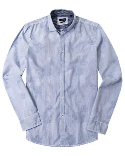 Hemd, Slim Fit, Popeline, -weiß gestreift
