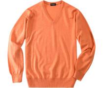 Herren Pullover Kaschmir pastell-orange