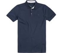 Herren Polo-Shirt Baumwoll-Piqué-Stretch marine