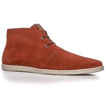 Herren Schuhe Desert Boots Veloursleder terracotta rot