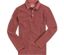 Herren Polo-Shirt, Baumwoll-Piqué, rost rot