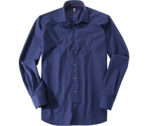 Herren Hemd, Regular Fit, Popeline, marine blau