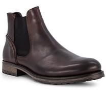 Schuhe Chelsea Boots Leder dunkel