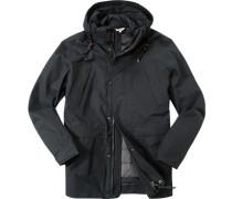 Herren Drei-in-eins-Mantel Baumwolle MTD®-Technologie schwarz