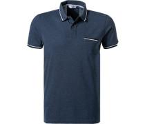 Polo-Shirt, Baumwoll-Piqué, denim