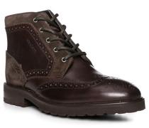 Herren Schuhe Stiefelette, Leder, braun