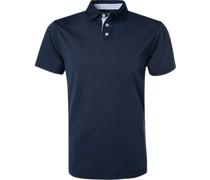 Polo-Shirt Classic Fit Baumwoll-Jersey marine