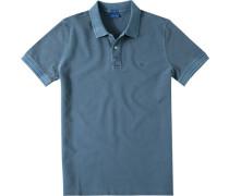 Herren Polo-Shirt Modern Fit Baumwoll-Piqué rauchblau meliert