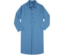 Herren Nachthemd Baumwolle himmelblau
