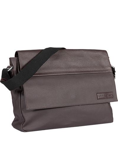 Calvin Klein Herren Messenger Bag, Baumwolle, dunkel