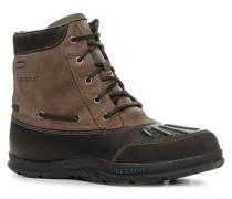 Herren Schuhe Schnürstiefeletten Leder -braun