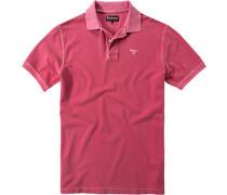 Herren Polo-Shirt Baumwoll-Piqué dunkelrosa