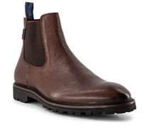 Schuhe Chelsea Boots Kalbleder cognac