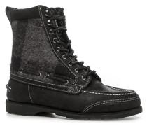 Herren Schuhe Schnürstiefeletten Nubukleder-Textil-Mix -grau