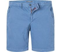 Herren Hose Bermudashorts, Classic Fit, Baumwolle, blau