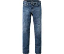 Herren Jeans, Regular Fit, Baumwoll-Stretch, blau