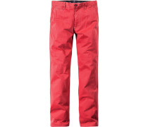 Herren Hose Berlin Regular Fit Baumwolle hellrot